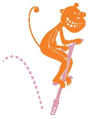 Pogo Jumping Monkey